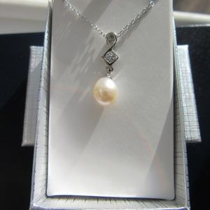 Jewelry - Pearl and CZ Necklace